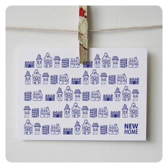 New house card / New home card / by PaperandPickles on Etsy, $4.50