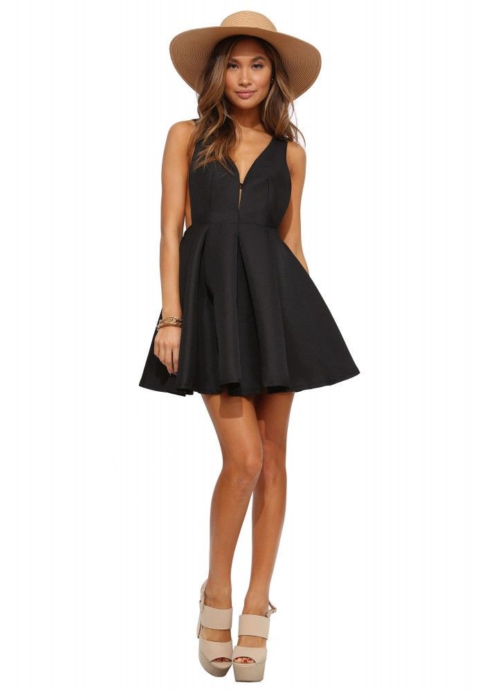 Darling Heart Throb Cocktail Dress in Black | Necessary Clothing