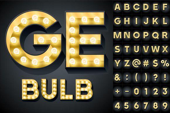 Old lamp alphabet by popskraft lab on @creativemarket