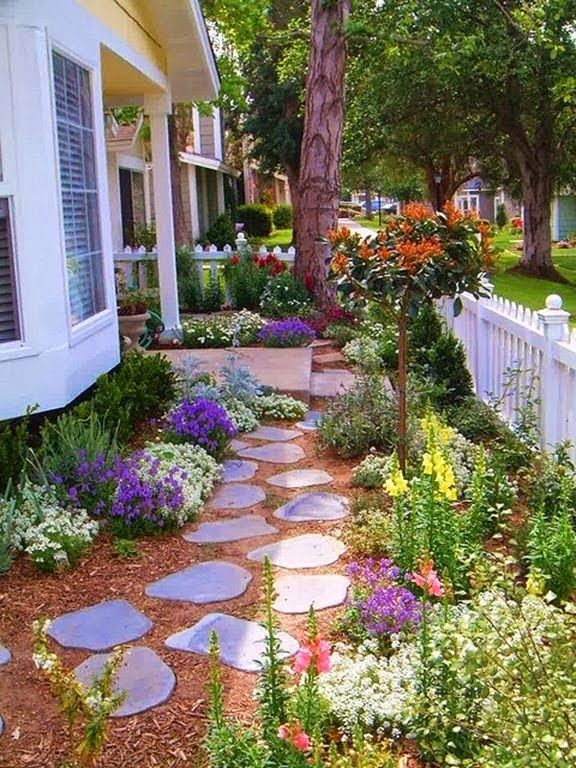 mostbeautifulbackyards: Gorgeous outdoor garden with wildflowers - Home and Lifestyle Design