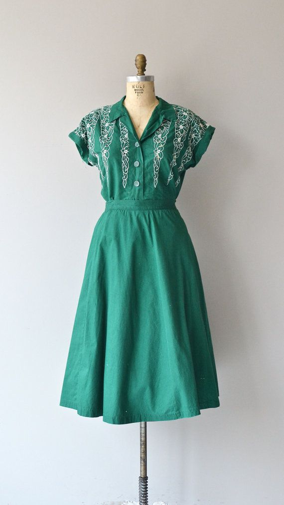Greenbriar dress vintage 1950s dress cotton 50s by DearGolden