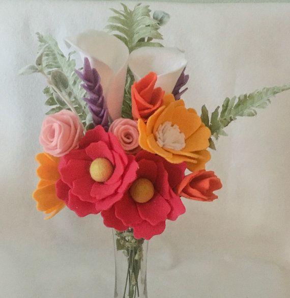 Handmade Felt Floral Bouquet