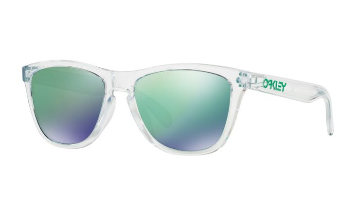Shop Oakley Frogskins® Crystal Collection (Asia Fit) in POLISHED CLEAR / JADE IRIDIUM at the official Oakley online store.
