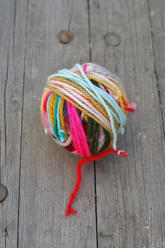 DIY Tie All Of Your Scrap Yarn Together