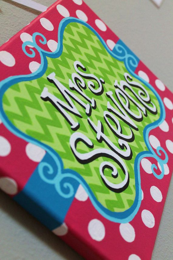 Lime Green Teal and Hot Pink Chevron Stripes and polka dots by KraftinMommy