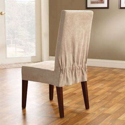 dining room hair covers | Maybe try something like that? If you're handy at sewing, you could ...