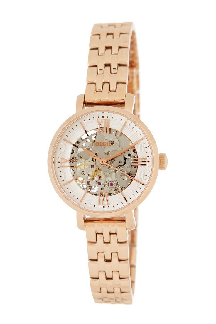 Women's Jacqueline Mini Mechanical Bracelet Watch by Fossil on @nordstrom_rack