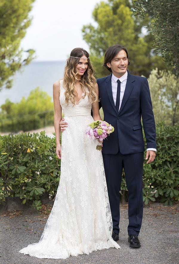 Una #boda, un fiestón y el mar Mediterráneo | Vanesa Romero / Vestido Hannibal Laguna