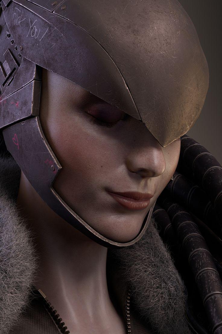 ArtStation - Sci Fi woman, Jason De Loos