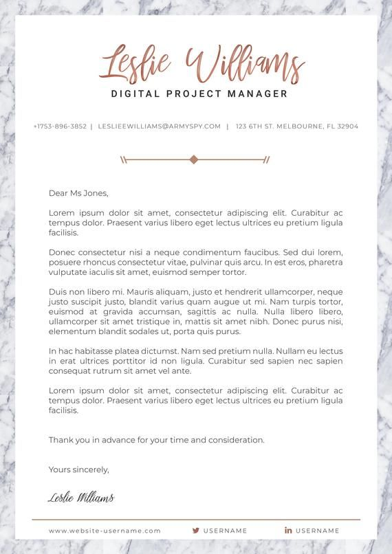 Marble Rose Gold Curriculum Vitae Template Resume Cv Cover Letter Creative Design For Photoshop Curriculum Vitae Curriculum Cv Lettre De Motivation