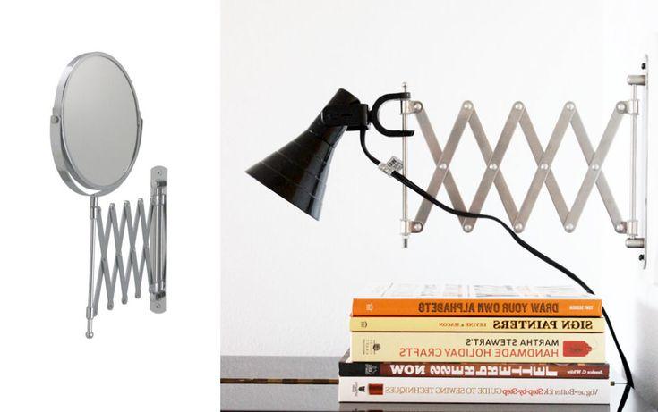 Från http://roombysofie.se/2014/01/snygg-ikea-hack.html?utm_source=rss&utm_medium=rss&utm_campaign=snygg-ikea-hack&utm_reader=feedly  Gör om en IKEA-spegel till cool lampa.  Ta den här istället: http://www.ikea.com/se/sv/catalog/products/70050261/