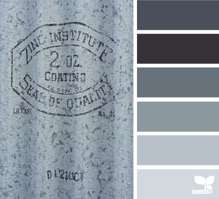galvanized grays - design seeds #knockoutneutrals