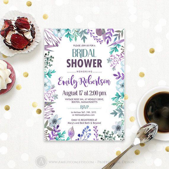 Fall Bridal Shower Invitation Autumn Bridal Shower by AmeliyCom https://www.etsy.com/listing/462821680/fall-bridal-shower-invitation-autumn