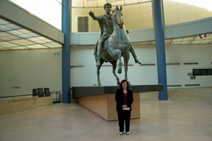 Sharon at the Capitaline Museum Rome.