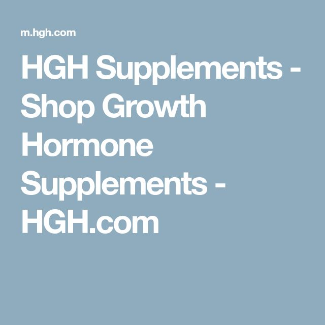HGH Supplements - Shop Growth Hormone Supplements - HGH.com