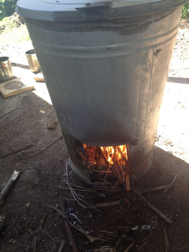 Raku! Using My IKEA Trash Bin Wood-burning Raku Kiln With Propane
