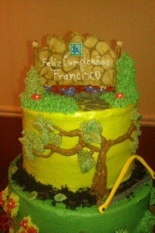 Toy Lawn Mower Cake Decoration