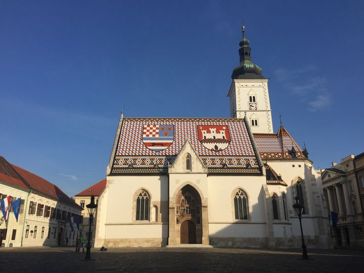 Church of St Mark in Zagreb, Croatia, with its lovely tile roof this am in glorious sunshine
