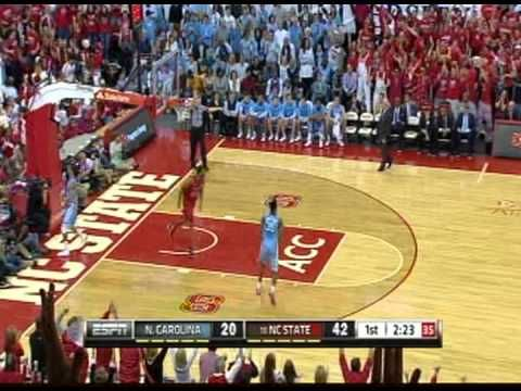 Crowd goes crazy at the PNC Arena NC State vs UNC-CH