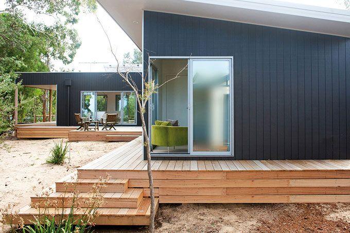 Vertical timber cladding -