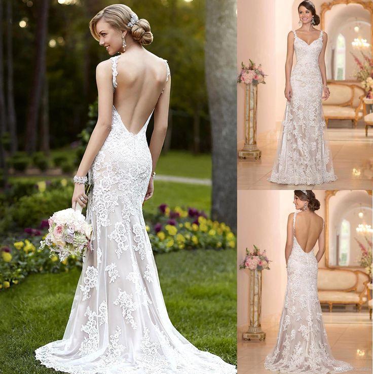56 best 2016 Lace Wedding Dresses Sheer Long Sleeves Off Shoulders