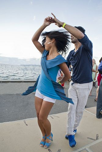 Salsa Dancing on Alki 8.24.13