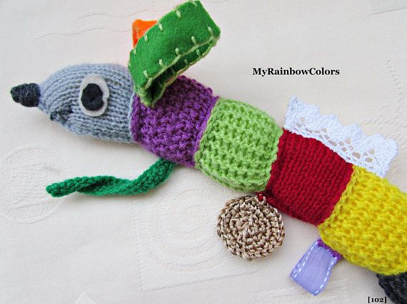 Sensory Toy for Toddler Sensory Baby Toy Knit Stuffed