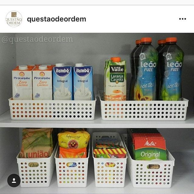 Criar categorias dos alimentos com cestas organizadoras do site www.dmix.com.br , deixa despensa bem organizada e fácil de achar o que tem, não deixar nada esquecido no fundo do armário e passar a validade; e pratico pra fazer a lista de compras. Essa li | SnapWidget