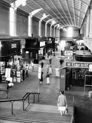 Inside the Adelaide Railway Station concourse in 1984.
