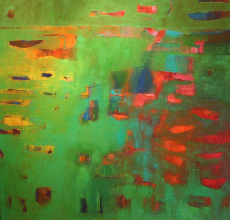 Penelope Stutterheime, Oceanic II, Oil on Linen, 110 cm x 110 cm,  Everard Read