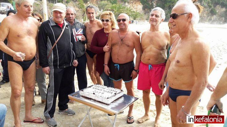 Την πίτα τους έκοψαν οι τολμηροί χειμερινοί κολυμβητές στον Πλατύ Γιαλό (εικόνες) - InKefalonia