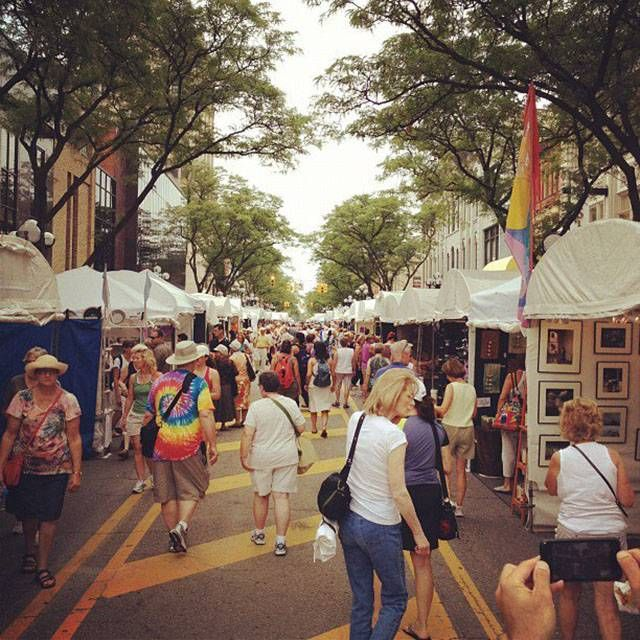 """Since 2004, the Ann Arbor Art Fairs in Michigan have consistently placed in the top Ten Fairs and Festivals list put out by """"AmericanStyle"""" magazine. Knowing that these fairs typically draw in around 500,000 people (or five times the city's population), it really isn't that surprising."""