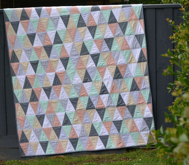 Isosceles on Point by Ms Midge, via Flickr - Great tutorial for making a triangle quilt!