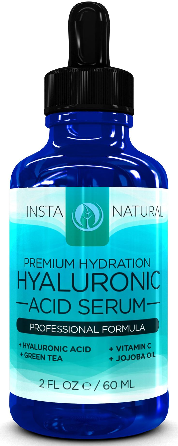 Hyaluronic Acid Serum -2 FL OZ- BEST VEGAN Hyaluronic Acid + Vitamin C Serum + Vitamin E + Green Tea - This Anti-Aging Serum for Face Will Reduce Fine Lines, Wrinkles & Discoloration So You Can Obtain Youthful, Radiant, Plump, and Vibrant Skin That You Have Always Desired -TWICE the SIZE- 100% Satisfaction Guaranteed
