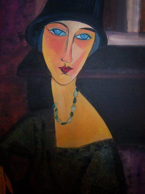 Jeanne Hebuterne au chapeau by Amedeo Modigliani ✏✏✏✏✏✏✏✏✏✏✏✏✏✏✏✏ ARTS ET PEINTURES - ARTS AND PAINTINGS ☞ https://fr.pinterest.com/JeanfbJf/pin-peintres-painters-index/ ══════════════════════ Gᴀʙʏ﹣Fᴇ́ᴇʀɪᴇ ﹕☞ http://www.alittlemarket.com/boutique/gaby_feerie-132444.html ✏✏✏✏✏✏✏✏✏✏✏✏✏✏✏✏