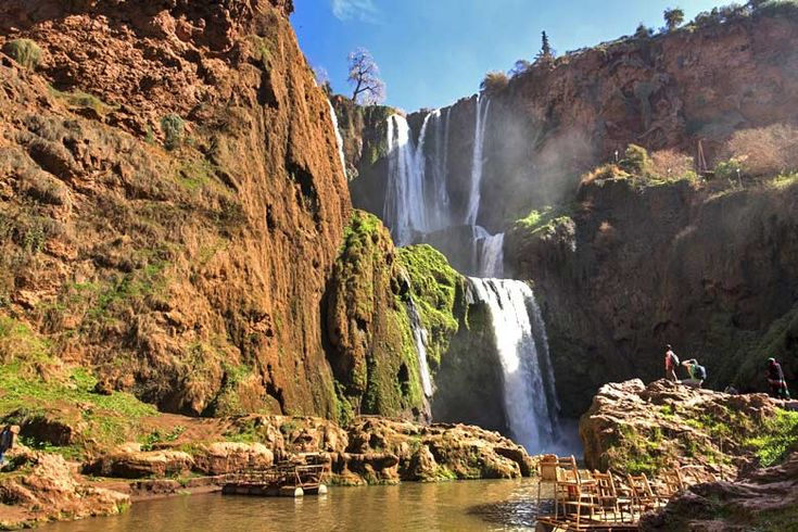 Day trips from #Marrakech | http://www.weather2travel.com/blog/marrakech-day-trips-and-excursions.php | #Morocco #travel | The Ouzoud Falls