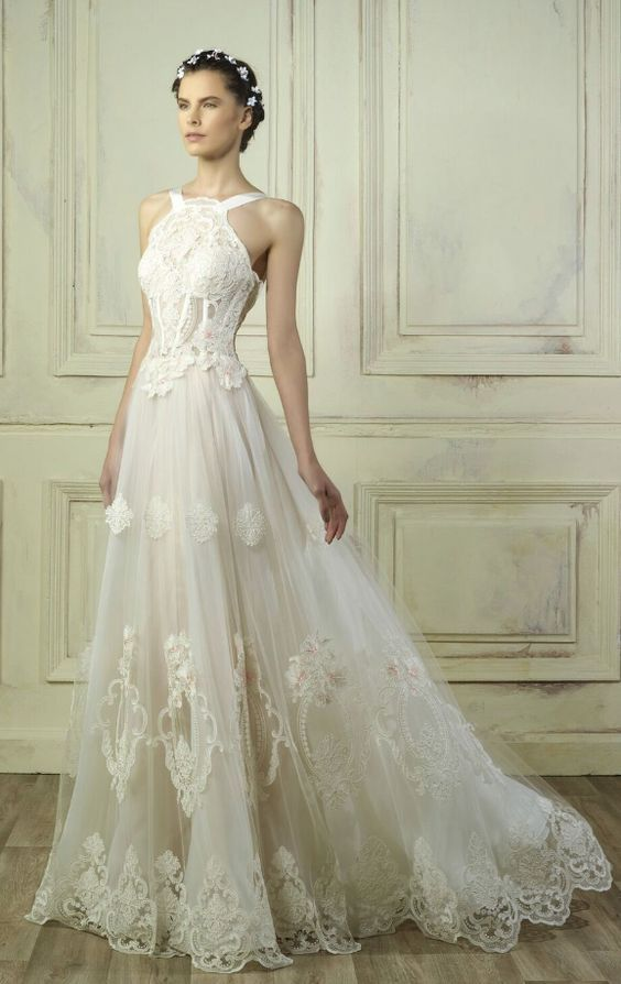 Featured Dress: Gemy Maalouf; Wedding dress idea.