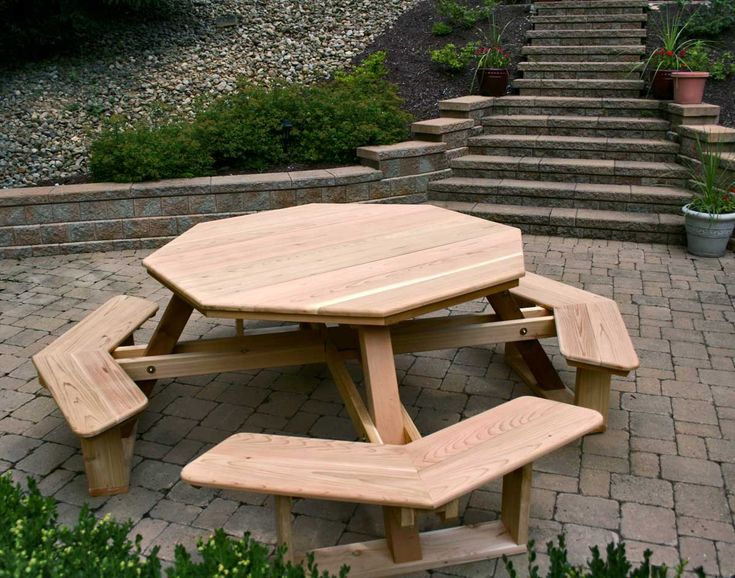 Free Octagon Walk In Picnic Table Plans - WoodWorking ...