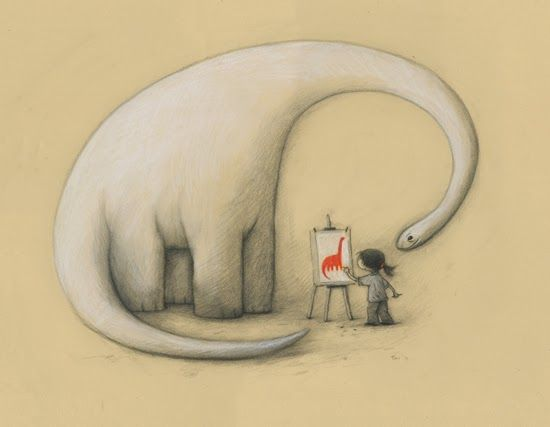 "Shaun Tan: ""Because you feel red to me"" #ilustracion #illustration"