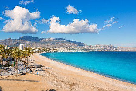 Altea Playa del Albir of white stones in Alicante Mediterranean Spain