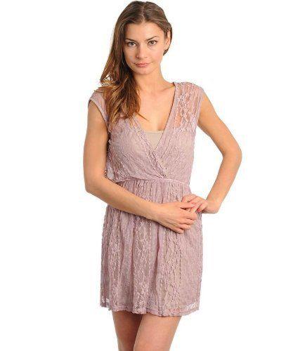 G2 Fashion Square Women's Classic Lace V-Neck A-Line Dress