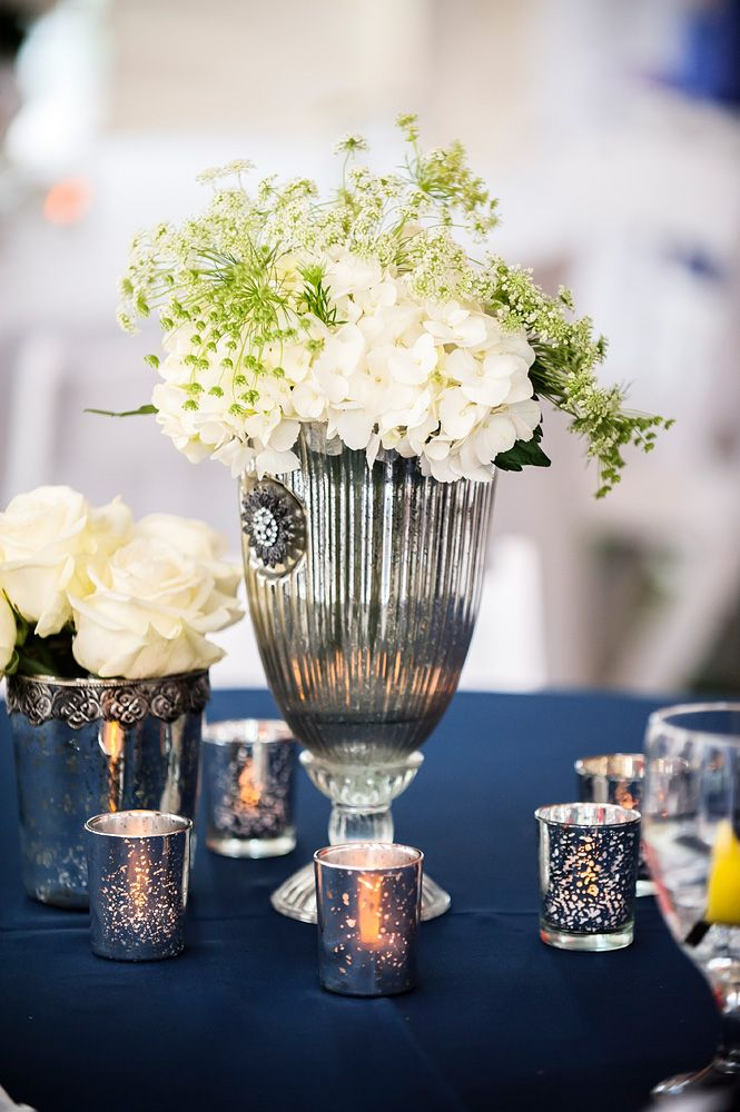 Navy And Silver Wedding Centerpiece Resorts Wedding Navy And Classic