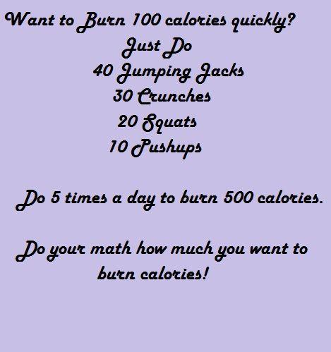 Burn 100 calories quickly