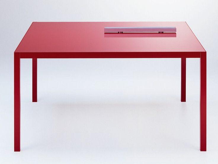 Mesa extensible de aluminio Mesa cuadrada Colección Colors by MDF Italia   diseño Bruno Fattorini