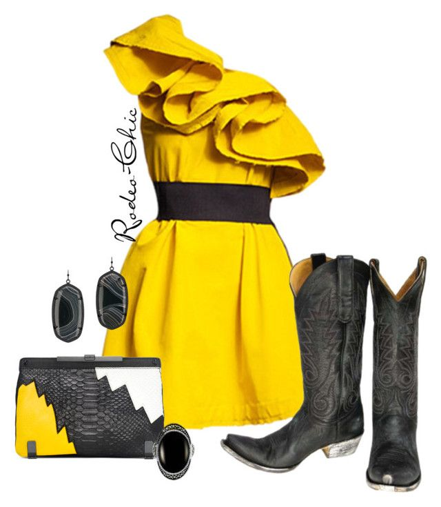 """""""El Paso"""" by rodeo-chic ❤ liked on Polyvore featuring Kendra Scott, Old Gringo, Le Vieux, country, western, cowboyboots and girlsnightout"""