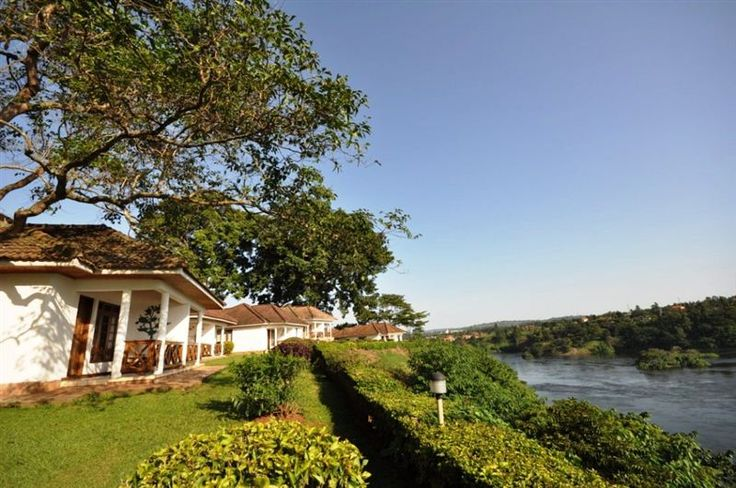 Jinja Nile Resort is located at the banks of the River Nile with a beautiful view. You can see the landscape, gardens, palm trees and the breathtaking Bujagaali falls. See here @ http://safaridmc.com/jinja-nile-resort/