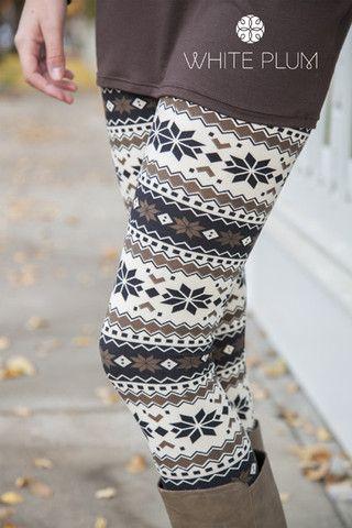 Natural Nordic Leggings- White Plum has lots of winter leggings