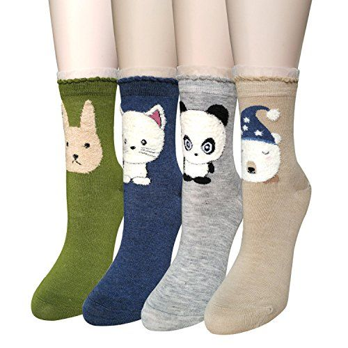 Sweet Animal Design Women's Casual Comfortable Cotton Crew Socks - http://freebiefresh.com/sweet-animal-design-womens-casual-comfortable-review/