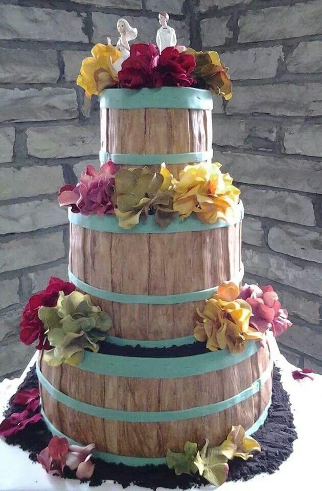 Country/Rustic Wedding Cake | Wedding | Pinterest