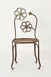 Blacksmith Blossom Chair: Anthropology, Flowers Chairs, Patio Chairs, Outdoor Chairs, Metals, Blossoms Chairs, Gardens Chairs, Blacksmithing Blossoms, Furniture